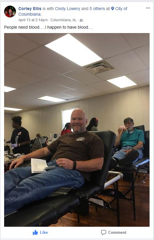 Corley Ellis Blood Drive