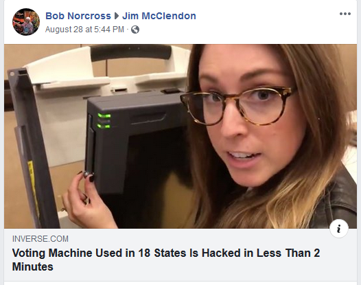 Jim McClendon Voting Machine Hack